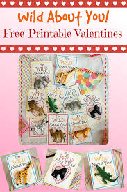 wild about you free printable valentines the shady lane