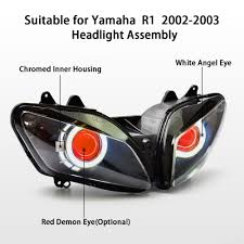 aliexpress com buy kt headlight for yamaha yzf r1 2002 2003 led
