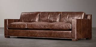 restoration hardware maxwell leather sofa collins rh