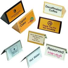 metal reserved table signs metal or wooden table signs foremost products