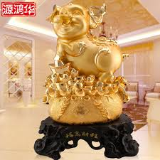 Gold Home Decor Accessories Gold Pig Decor Promotion Shop For Promotional Gold Pig Decor On