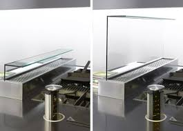 kitchen island extractor fans arclinea kitchen italia glass divider and extractor fan in one