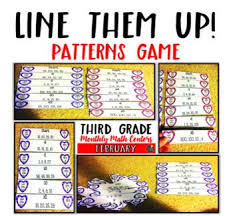 pattern games for third grade patterns valentine s day game multiplication division and students