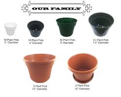 amazon com 50 plant pots 4 inch 100 recycled plastic made