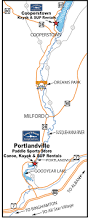 Route 80 Map by Canoe U0026 Kayak Rentals And Sales