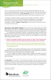 formational children u0027s ministry shaping children using story