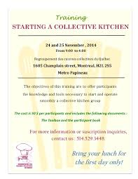 cuisine collective montr l starting a collective kitchen montreal