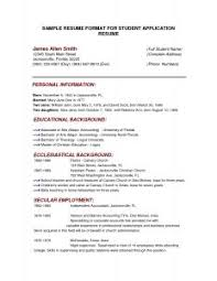 Example Of Simple Resume Format by Examples Of Resumes Resume Example A For Job Format In 79