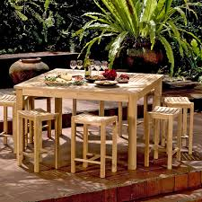 Counter Height Patio Dining Sets - teak gathering table counter height bainbridge collection