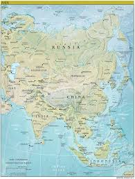 Asia Geography Map 2013 Asia World Fact Book Map Central Intelligence Agency Flickr