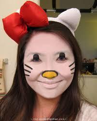 halloween kitty face pink kitty cat face paint face makeup ideas
