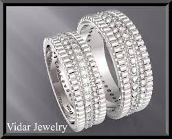 his and wedding bands his and diamond wedding bands vidar jewelry unique custom