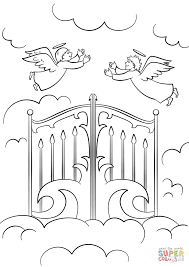 heaven u0027s gates coloring page free printable coloring pages