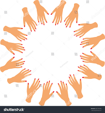 hands hand nails manicure vector stock vector 261727076 shutterstock