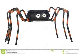 halloween spider candy dish royalty free stock photography image