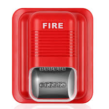 fire alarm horn strobe quick alert safety systems sensor red with