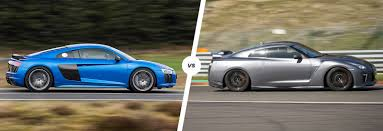 nissan supercar 2017 audi r8 vs nissan gt r supercar comparison carwow