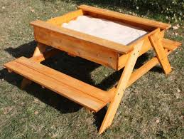 Kids Wooden Picnic Table Build Your Kids A Picnic Table With Sandbox