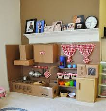 How To Make A Dollhouse Out Of A Bookcase Diy Inspiration Cardboard Play Kitchen Apartment Therapy