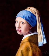 painting girl with pearl earring saatchi original copy of vermeer s the girl with the pearl