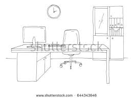 office sketch style hand drawn office stock vector 645495520