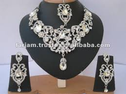 silver bridal necklace set images Indian designer silver bridal jewelry necklace set buy bridal jpg