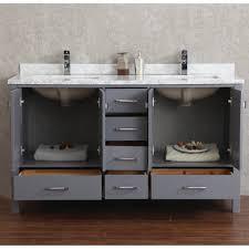 Solid Wood Bathroom Cabinet Bathroom Furniture Dual Integrated Sinks Green Dark Gray Medium