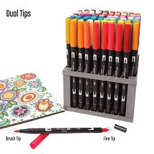 Desk Pen Stand Tombow Professional Dual Brush Pen Marker Set 96 Colors With Desk