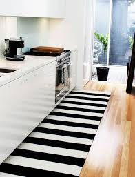 Striped Kitchen Rug Runner Black White Stripe Outdoor Rug Different Decoration On Home