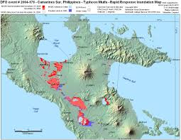 Parana River Map 2004 Flood Archive