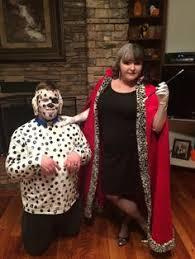 Dalmatian Puppy Halloween Costume Disney U0027s Cruella Deville Cape White Satin Puppy Fur Collar