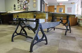 cast iron u0026 wood brake conference table get back inc