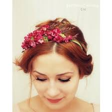 flower hairband floral headband pink flower crown hair accessories romant
