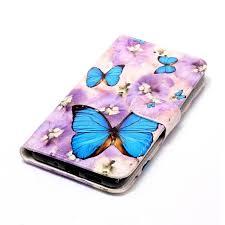 huawei p10 lite gloss embossed purple butterfly pattern
