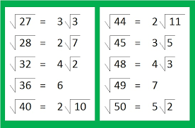 reducible square roots of numbers up to 352 find the factors