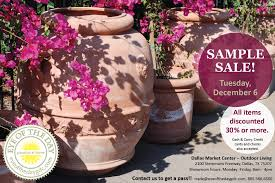 december 6 sample sale at our showroom in the dallas market