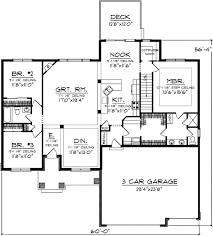 floor plans with 3 car garage plan 89793ah one level living computer nook bonus rooms and