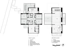 beach house floor plans modern narrow lot walk first and second