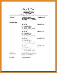 Resume Builder Sample Resumes Example Sample Resume Examples For College Students