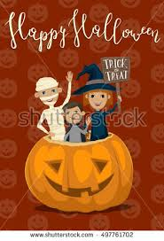 happy halloween night party banner funny stock vector 498659941