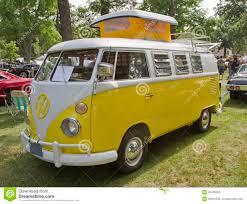 car volkswagen side view yellow u0026 white 1966 vw camper side view editorial image image