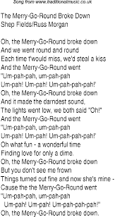 top songs 1937 charts lyrics for merry go
