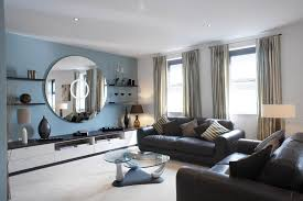 Living Room Wall Mirrors Ideas - living room deluxe blue living room wall paint design combine