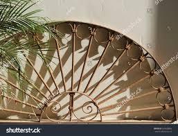 half round cast iron trellis palm stock photo 634328066 shutterstock