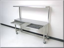 Work Benches With Storage Stainless Steel Work Bench Table Stainless Steel Flat Table With