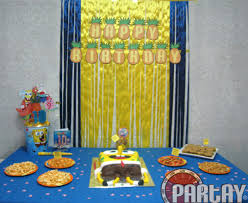 background decoration for birthday party at home spongebob themed party time2partay com