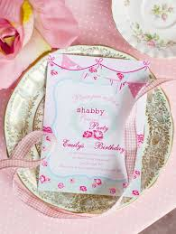 Shabby Chic Invites by Shabby Chic Princess Pink Vintage Party Planning Ideas