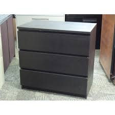 Ikea Buy Or Sell A Ikea Malm Espresso 3 Drawer Dresser And Bed Side Table Set Allsold