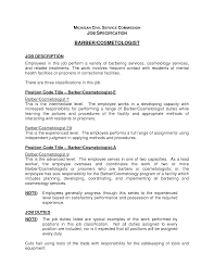 Mental Health Resumes Cosmetologist Job Description Resume Resume For Your Job Application