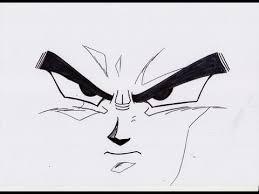 draw dbz face ドラゴンボールz の 顔
